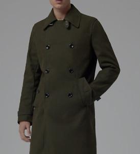 Mens Reiss GOVERNOR Overcoat - Size Medium