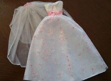 BARBIE BRIDAL DRESS AND VEIL - VERY PRETTY