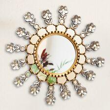 Silver & Gold Round Sunburst Mirror 19.8 from Peru, Accents golden Mirror wall