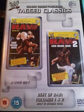 WWE Tagged Classics BEST OF RAW Vol 1 and 2 1996 WWF PAL UK 2 Disc Set
