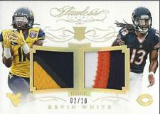 2015 Flawless Rookie NFL Collegiate Dual Patches Gold #29 Kevin White Jersey/10