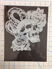 Snake Skull & Roses mylar reusable stencil 10 mils for Airbrush design art craft