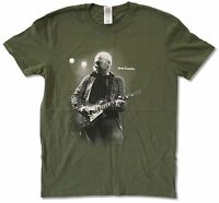 Mark Knopfler Live Tour 2013 Olive Green T Shirt New Official