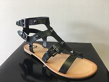 New - Women's G by Guess Hixtin Black LL Gladiator Sandals Size 7.5 M