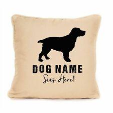 More details for gift for dog springer spaniel personalised cushion present for dog lover