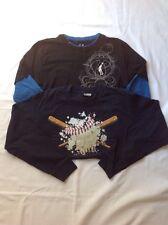 Boys Youth ProSpirit Long Sleeve Tshirts (2 Bundle) Black Blue Medium EUC