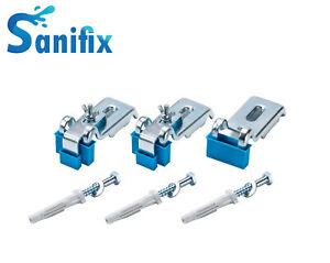 SANIFIX 3 Wannenanker Set für Stahlwanne Duschtasse oder Badewanne Befestigung
