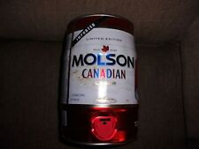 Limited Edition MOLSON Canadian Lager Detriot Red Wing Edition 1.3 Gal. Can $15