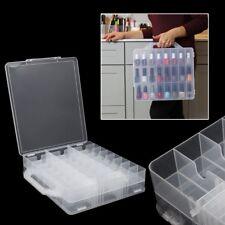 48 Lattice Nail Polish Holder Display Container Organizer Storage Box Case Clear