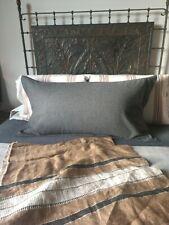 Ralph Lauren Gray Wool Blend King Size Pillow Sham