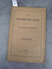 Anatomie des auges Hugo Magnus Allemand Monoyer ophtalmologie optique médecine