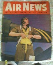 New ListingAir News January 1943 Aviation Magazine