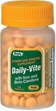 Rugby Daily-Vite Multivitamin Tablets with Iron - Beta-Carotene 100 ea