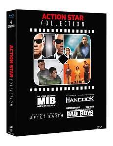 Blu Ray Hancock - After Earth - Bad Boys - Mib Men in Black  (Box 4 Blu Ray) NEW