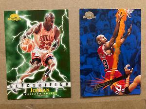 Michael Jordan 2 Card Lot Inc 1996-97 Skybox Electrified #278 & 1995-96 Single