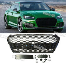 Fits 18-20 Audi A5 S5 B9 RS5 Style Front Grille Grill (Gloss Black Frame + Mesh)