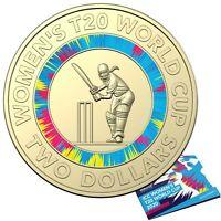 Australia 2020 ICC Women's T20 World Cup $2 AlBr Coloured UNC Coin In Folder RAM
