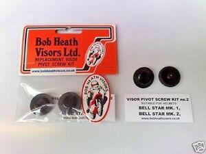 BELL,HELMET,STAR,1+2,VISOR,PIVOT POSTS/SCREWS KIT- BOB HEATH VISORS, KIT 2