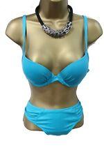 Swim Suit Bikini 2Piece Set Bra 12 C Cup Bottom 14 16 Padded Aqua Blue Teal