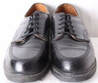 Mason 16711 Vtg Union Made Leather Moc Toe Brogue Lace Up Oxford Men's US 8C