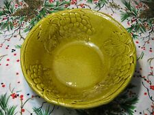"Vtg MADDUX of CALIF 3108 Grape Cluster Serving Bowl 11-1/4"" USA"