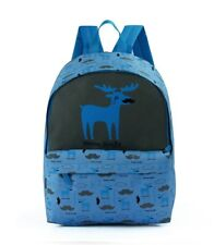 DAVID AND GOLIATH - MOOSE-STACHE SCHOOL BACKPACK - BLUE/GREY