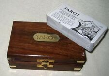 Tarot- Card Game IN Wooden Box With Brass Inlay - Very Fine