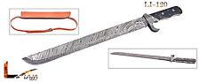 Damascus Steel 23 Inches Sword - Brown Micarta Handle LI-120