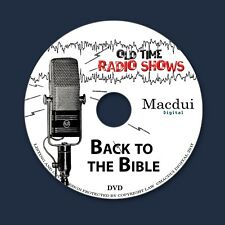 Back to the Bible Old Time Radio Shows Religion 3 OTR MP3 Audio Files 1 Data DVD