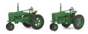 Walthers SceneMaster HO Scale Farm Tractor Vehicles (2-Pack) Green