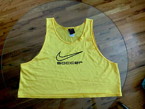 NIKE SOCCER Training Bib Singlet Pinney YELLOW ONE SIZE FITS MOST/PRE-OWNED USED
