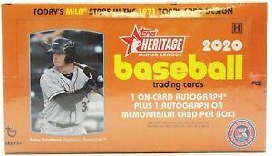 2020 Topps Heritage Minor League MLB Baseball card Hobby Box BRAND NEW