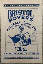 More details for bristol rovers v northampton 1952/53