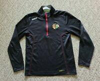 Chicago Blackhawks Reebok NHL Center Ice Collection Zip Pullover Men's Sz Small