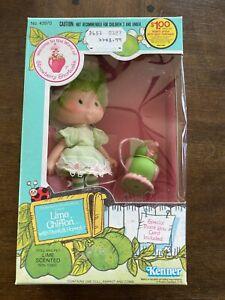 1982 VTG Strawberry Shortcake Lime Chiffon Doll & Parfait Parrot Mint In Box