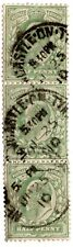 GB KING EDWARD VII 1910 USED STRIP OF 3 1/2P GREY GREEN CANCL NEW CASTLE ON TYNE
