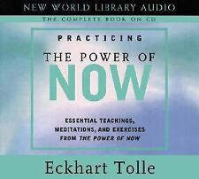 PRACTICING THE POWER OF NOW by Eckhart Tolle Audiobook CDs meditation exercises