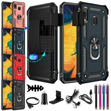 For Samsung Galaxy A20 A30 A51 A20s Ring Kickstand Case w/ Belt Clip Stand Cover