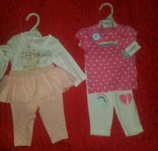 New Baby girl infant newborn Carter's bodysuit shirt pants leggings sets 3months