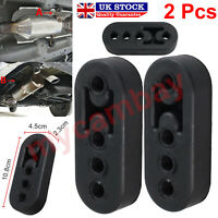 2x Universal Heavy Duty Black Car Exhaust Pipe Mount Brackets Hanger Rubber UK