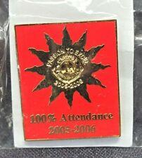 Lion's Club Commemorative Square 100% Attendance 2005-2006 Sealed Enamel Pin New