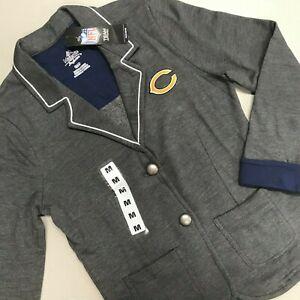 Chicago Bears Blazer NFL Football Majestic Throwback Performance Suit Jacket