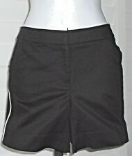 White House Black Market Black And White Piped Shorts Size 8 NWT