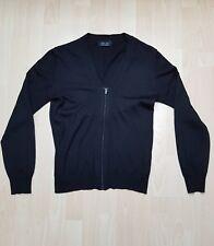 ZARA Herren Cardigan Schwarz Wolle Gr. S Tailored Fit