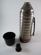 Vintage Uno-Vac ~ 1 Qt Stainless Steel Thermos, 145M ~ Beehive Design