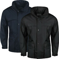 New Mens Raincoat Hooded Waterproof Jackets Windproof Zip Up Outdoor Work Coats