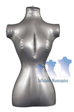 Inflatable Mannequin FEMALE TORSO Standard Size SILVER