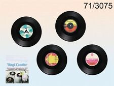 Set Of 4 Assorted Vinyl Record Coasters