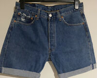 Vintage Levis 501 Mens Cut Down Shorts UK W32 Inch Grade A