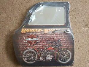 Harley davidson man cave wall art tin mini door sign with mirror